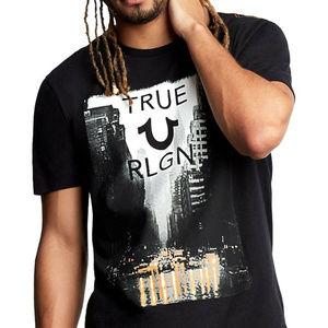 True Religion Men's City Rain Street Crew-Neck Tee
